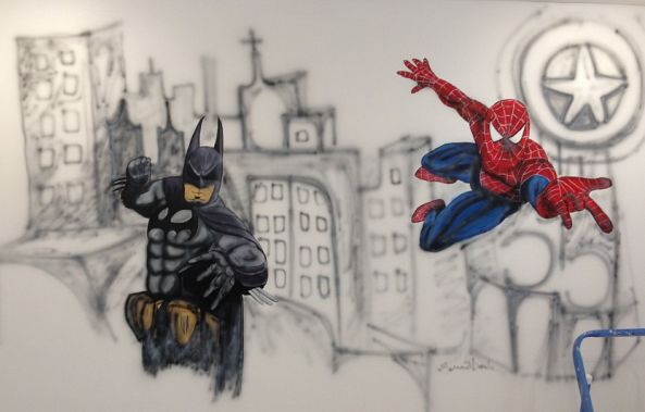 batman spiderman -Annie Houle