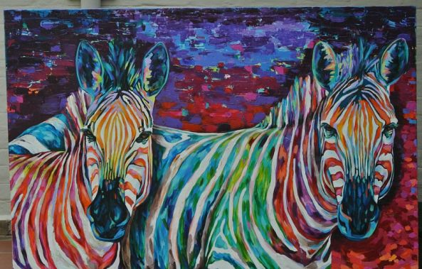 Colourful zebras-Michelle Sacks