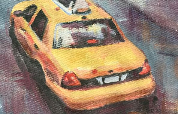 Yellow cab from above-Stephanie Fonteyn