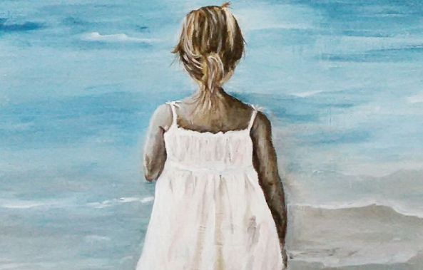 girl at the sea-Maria celia Tarasido