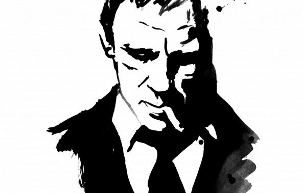 james bond-pechane sumi-e