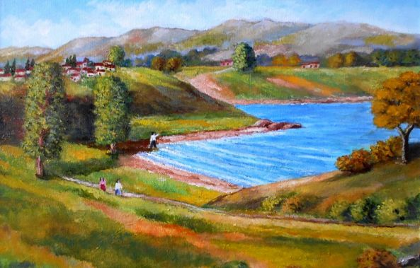 An Autumn day at the lake-Konstantinos Charalampopoulos