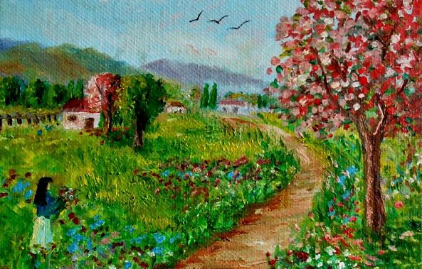 Picking  Spring flowers -Konstantinos Charalampopoulos