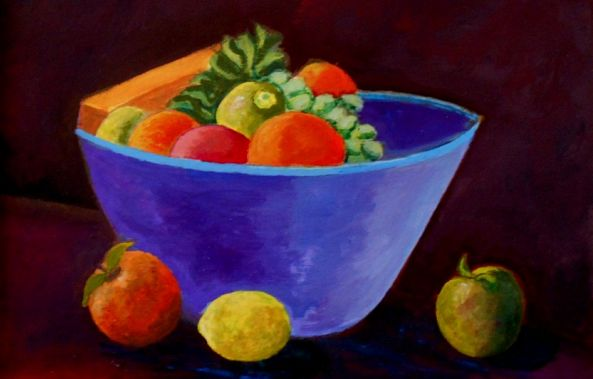 Still life with fruits-Konstantinos Charalampopoulos