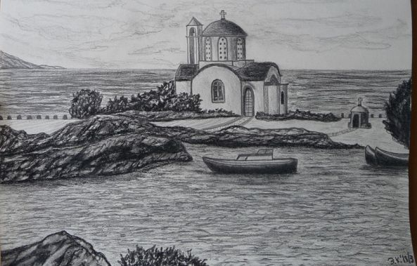 A Greek Coastal Church-Emil Kalinin