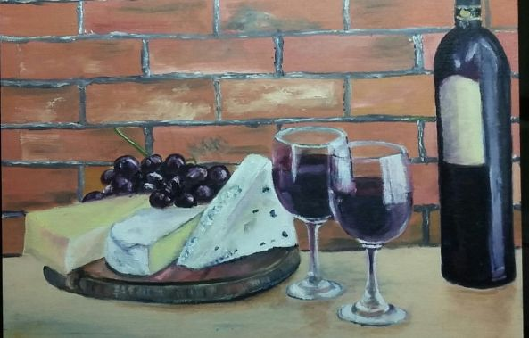 Wine and Cheese Collection No. 1-Rachelle Beaudry