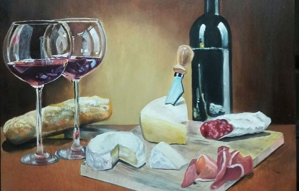 Wine and Cheese Collection No. 3-Rachelle Beaudry