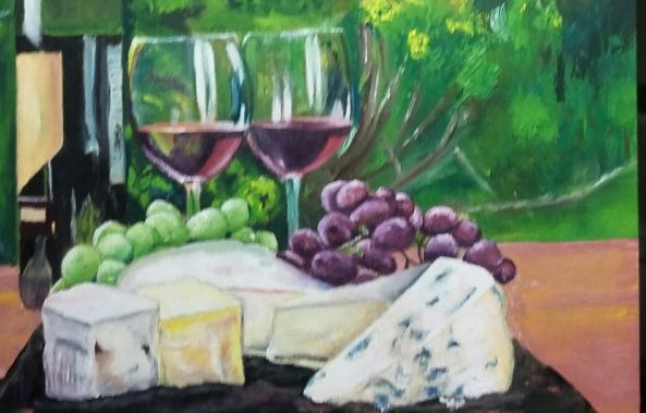 Wine and Cheese Collection No. 4-Rachelle Beaudry