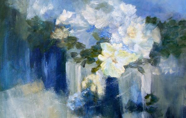 Flowers in Blue (SOLD)-Aase Lind