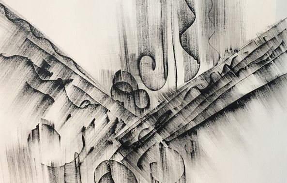 Black & White Abstract Tattoo Drawing by Khrystyna Kozyuk-Khrystyna Kozyuk