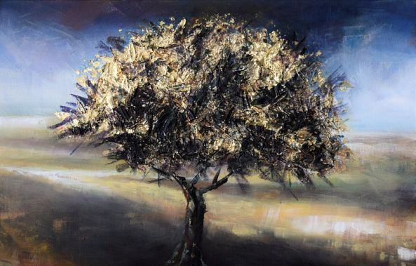 Beauty...Alone... oil tree-Magdalena  Wozniak-Melissourgaki