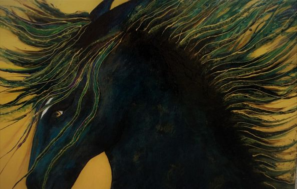 O Bucephalus - beloved horse of Alexander the Great-alexandra simanndani
