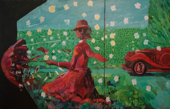 The secret garden - red car-Dragos Botezat