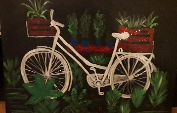 My garden bicycle-Cerasela Ciobanu