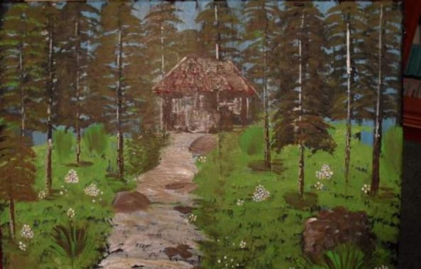 Cottage in the woods-Cerasela Ciobanu