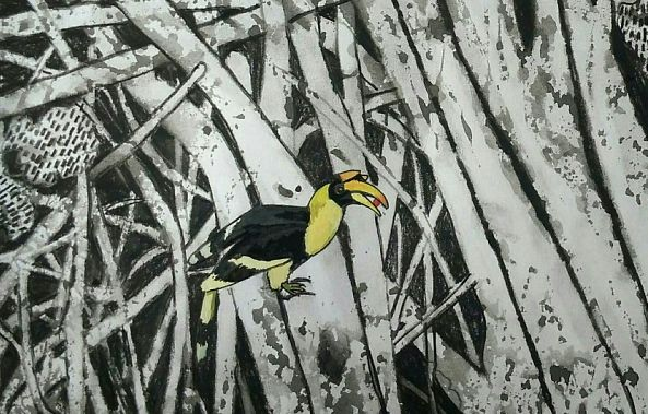 Mixed medium on paper-Vinod Kumar