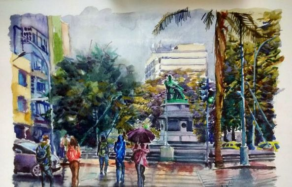 Rainy day in the José de Alencar Square-Anna Cavalcante