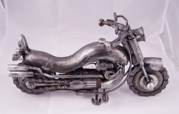 Motorcycle art / Motorcycle gifts / Steampunk decor / Scrap metal art-Dendrinos gIANNIS