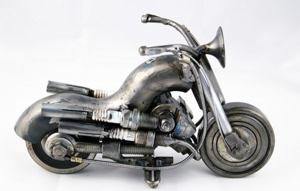 Motorcycle scrap metal artwork Home Decor-Dendrinos gIANNIS
