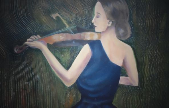 The girl of the sad violin-Margold Reina