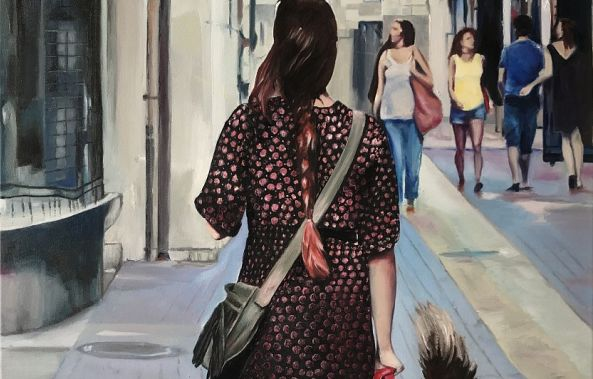 On the street where I live.-Karen Ross