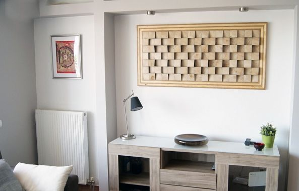 Large wall art for living room sound diffuser-Wood Blocker