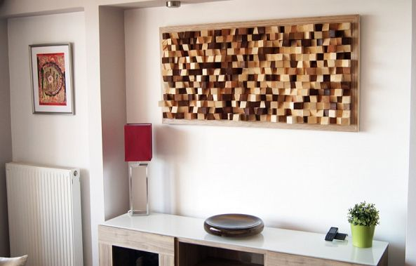 Acoustic panel wall art-Wood Blocker