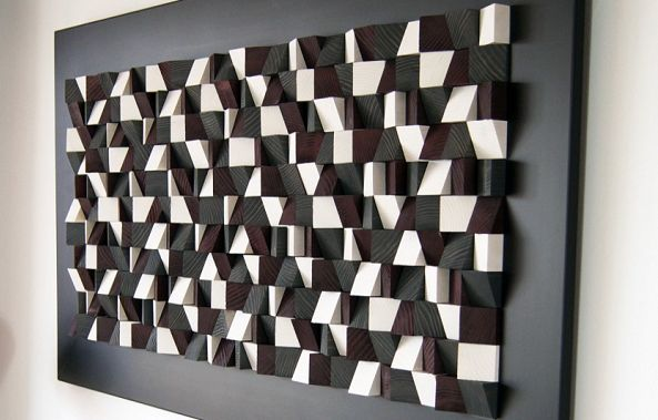 Wall art decor sound diffuesr-Wood Blocker