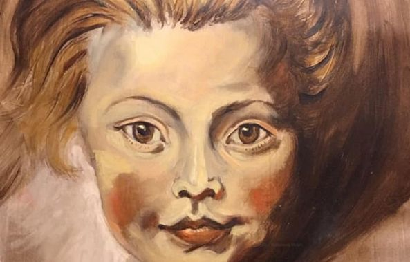 Copy of Rubens's Portrait of a Young Girl-