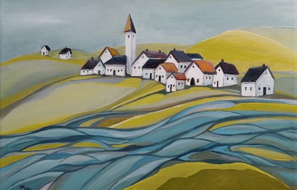 Village by the river-Aniko Hencz
