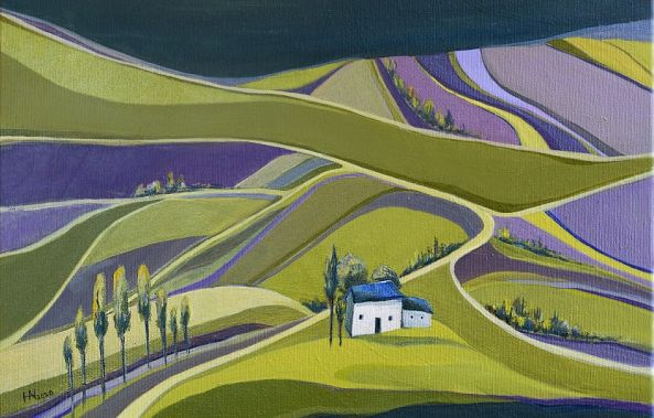 House on the lavender field-Aniko Hencz
