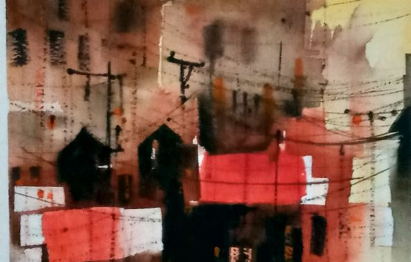Abstract streetscape-Raj Ram