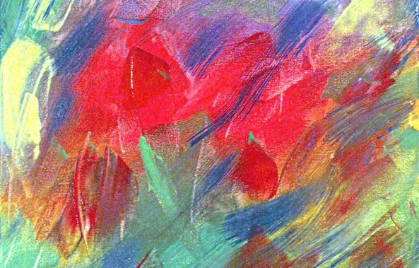 abstraction (les fleurs)-Jean Saint-Germain