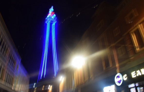 Blackpool Tower Lit Up At Nigjht -Lynch Ann