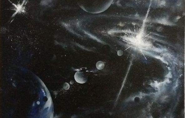 The coldness of the universe (90x60cm)-Mirza Latifovic