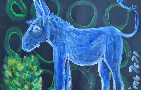 Little Blue Donkey-mimulux patricia no