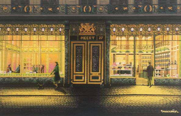 Meert pastry shop ( postal card )-Thierry Traccoën