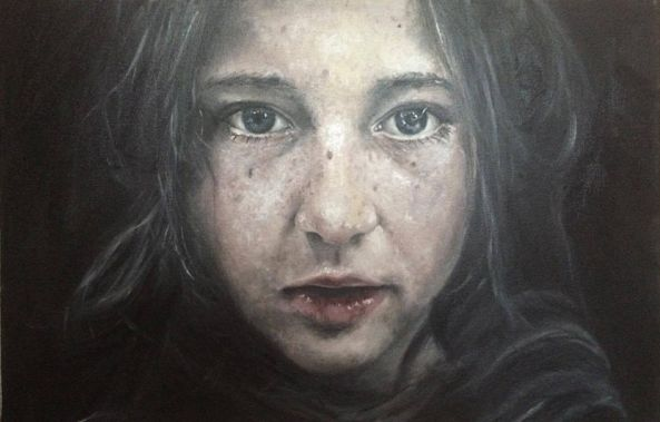 Young girl oil portrait -Eslam M.