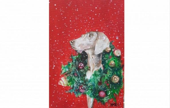 Christmas Puppy Red-Amani Terzakis
