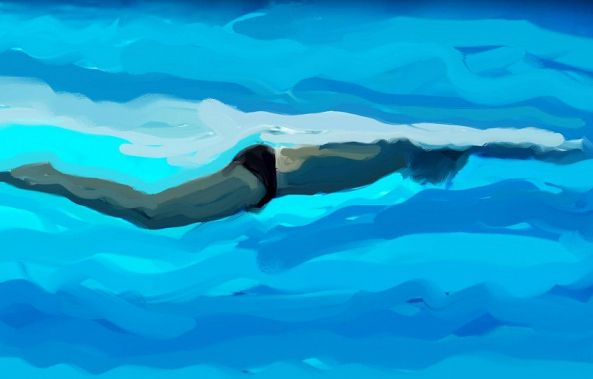 Swimmer 5-Harry Spitz