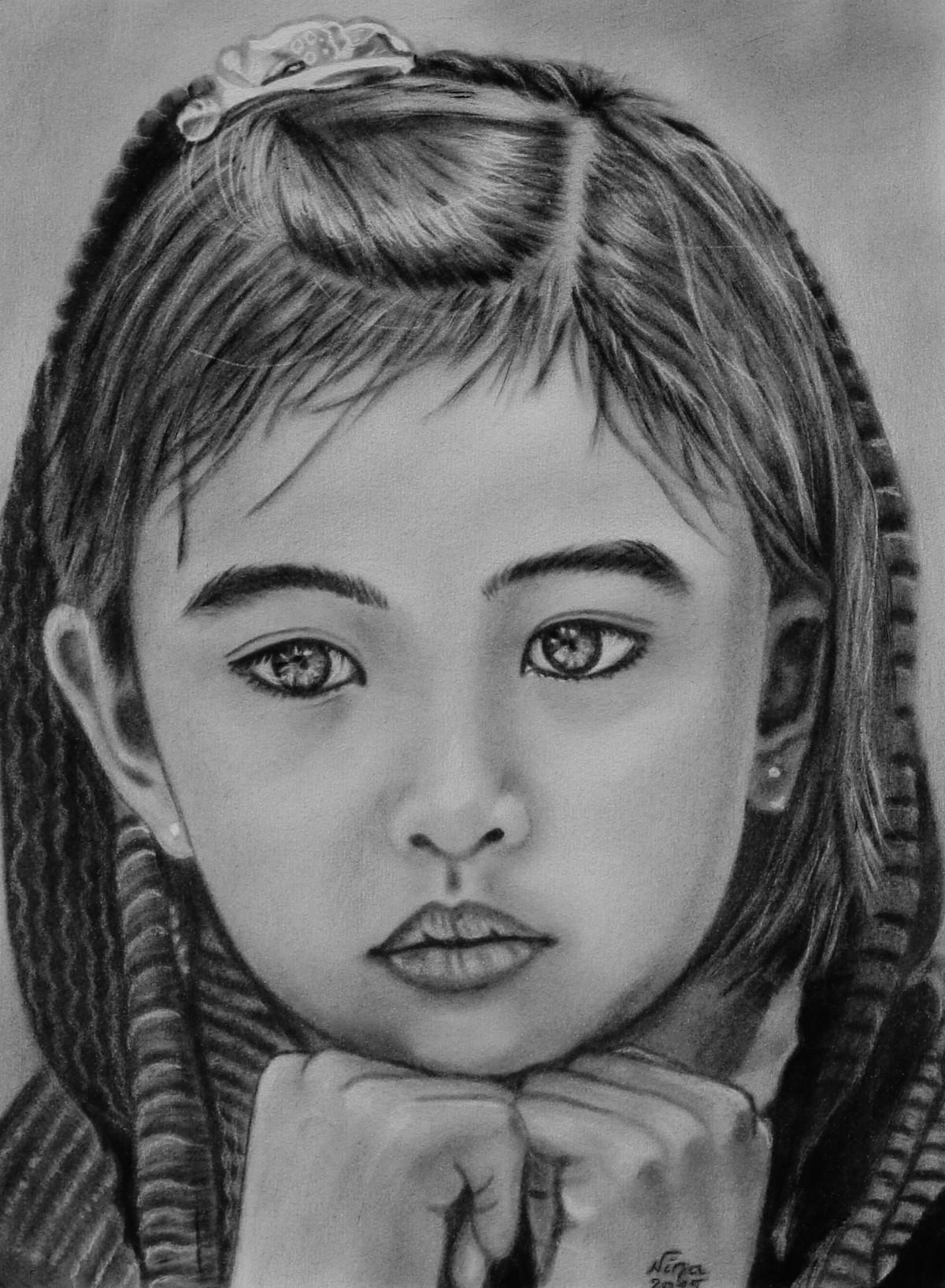 Petite fille triste by nina nadine pillet painting artblr - Dessin triste ...