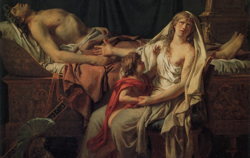 Andromache Mourning Over the Body of Hector.