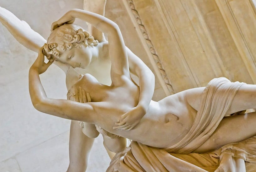 Antonio Canova's Psyche Revived by Love's Kiss