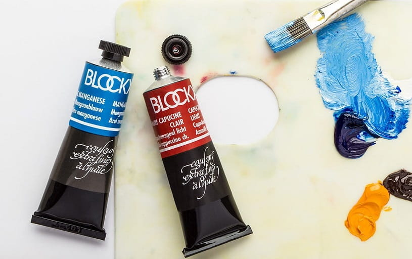 Blockx oil paints.