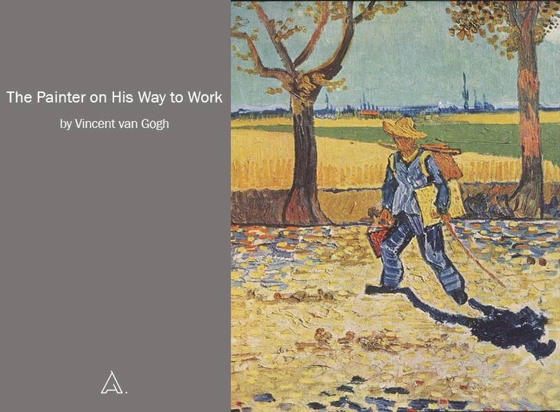 The Painter on His Way to Work by Vincent van Gogh.