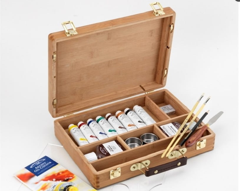 Winsor & Newton oil paints.