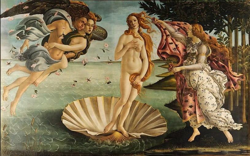 La naissance de Vénus.